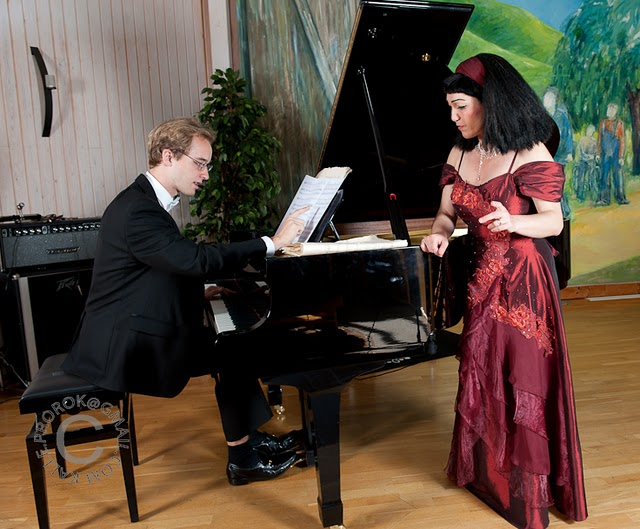 Ania i Konrad podczas proby