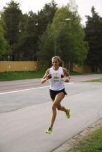 A to zwyciężczyni biegu, 5 km w 19 minut.