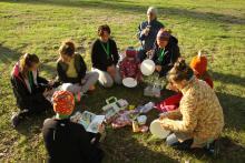 Podczas pikniku zaświeciło nawet słoneczko.