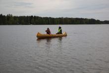 Można było też popływać kanoe.