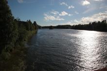 Dzisiaj wiatr wiał w przeciwnym kierunku niż bieg rzeki!