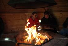 W domku do grilowania było chwilami jak w saunie.