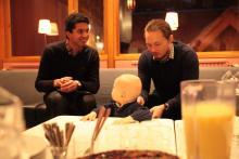 Nasz gość z Holandii, przeprowadzał wywiady z rodzicami na tematy językowe.