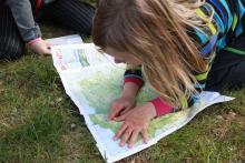 Kolejny skarb dla dzieci> mapa Polski, w sam raz na wakacje.