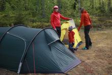 W tym roku kilka rodzin zdecydowało się na spanie w namiocie.